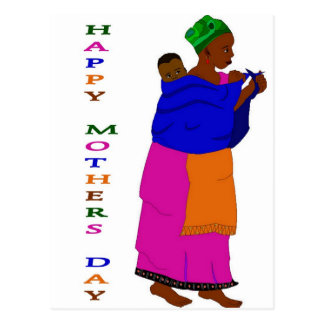Postal Africano del día de madre