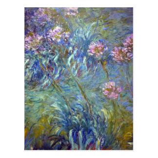 Postal Agapanthus de Claude Monet
