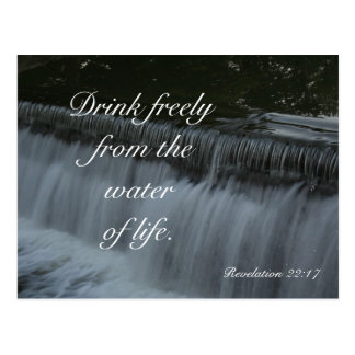 Postal Agua de la vida