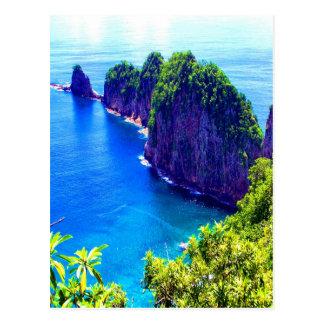 Postal agua escénica del océano del mar de la isla de