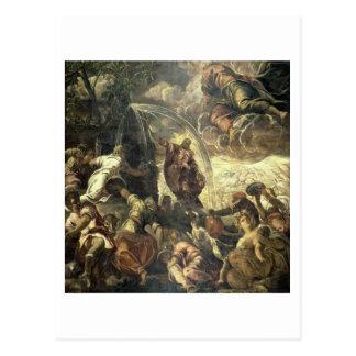 Postal Agua llamativa de la roca, 1575 de Moses