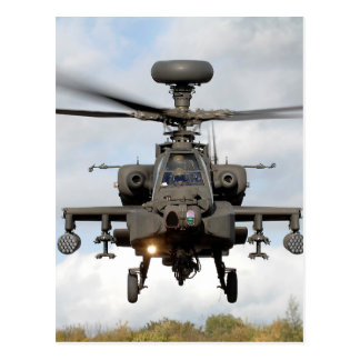 Postal ah 64 militares del helocopter del arco de apache