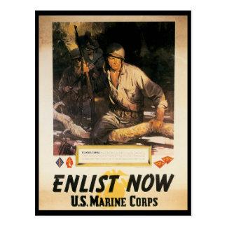 Postal Ahora aliste la Segunda Guerra Mundial