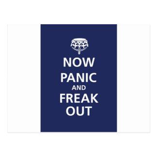Postal Ahora el pánico y freak hacia fuera