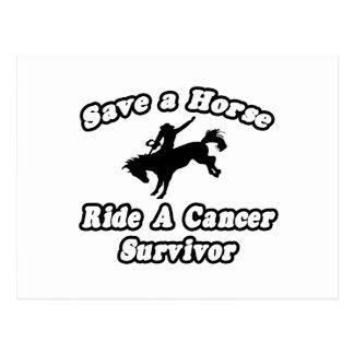 Postal Ahorre el caballo, superviviente del cáncer del