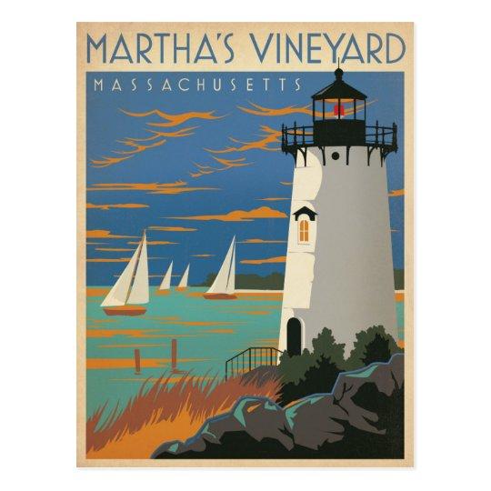 Postal Ahorre el Martha's Vineyard de la fecha el |, faro