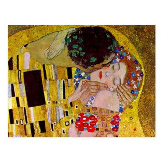 Postal Ahorre la fecha con el beso de Gustavo Klimt