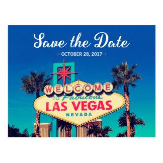 Postal Ahorre la fecha - foto retra hermosa de Las Vegas