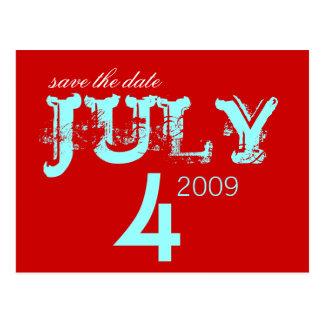 Postal Ahorre la fecha - julio - modificada para
