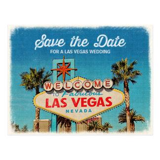 Postal Ahorre la fecha para casarse fabuloso de Las Vegas