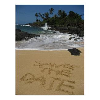 Postal Ahorre la fecha - playa