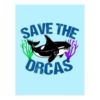 Postal Ahorre las orcas lindas