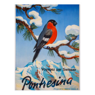 Postal Aire suizo Suiza de las vacaciones de Pontresina