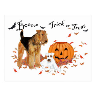 Postal Airedale Terrier Halloween