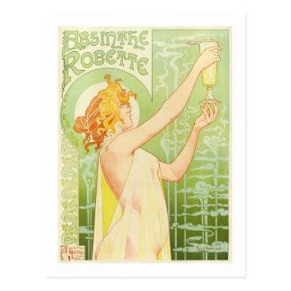 Postal Ajenjo Robette, bella arte de Privat-Livemont