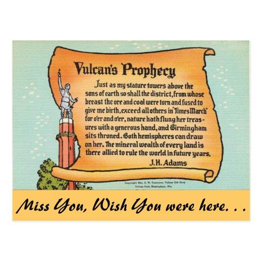 Postal Alabama, la profecía de Vulcan