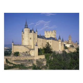 Postal Alcazar, Segovia, Castile León, España