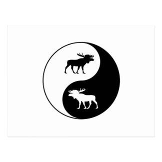 Postal Alces de Yin Yang
