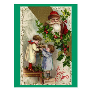 Postal alegre de los niños del navidad