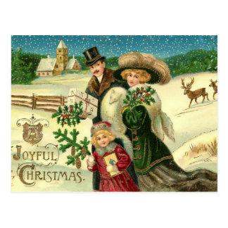 Postal alegre del navidad del vintage del navidad