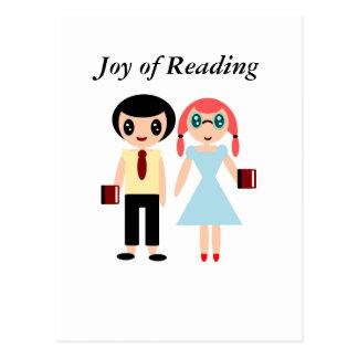 Postal Alegría de la lectura