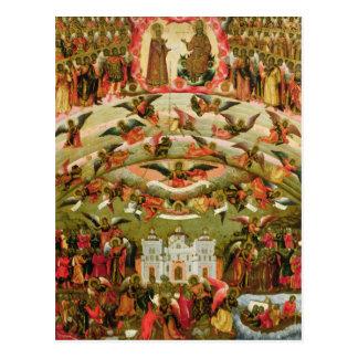 Postal Alegría de todos que Virgen del dolor, 1707