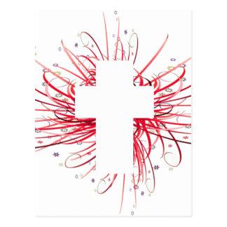 Postal ¡ALEGRÍA! en la cruz