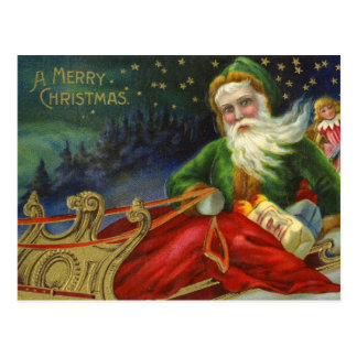Postal Alemán Papá Noel del vintage