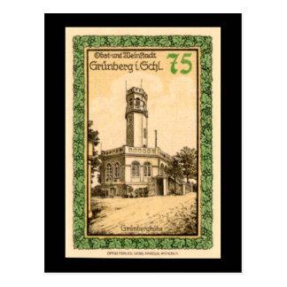 Postal alemana de la nota del Pfennig 75 de
