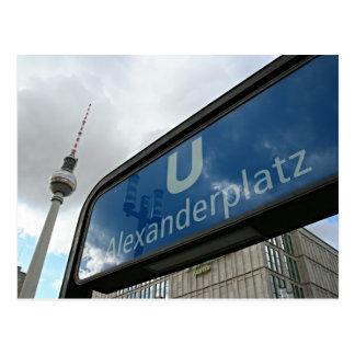 Postal Alexanderplatz metro & Fernsehturm