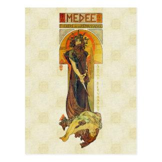 Postal Alfons Mucha Medea 1898