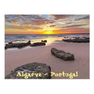 Postal Algarve - Portugal. Tema de la estación de verano