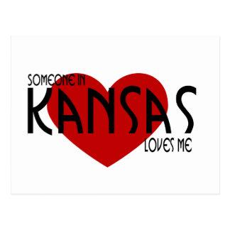 Postal Alguien en Kansas me ama