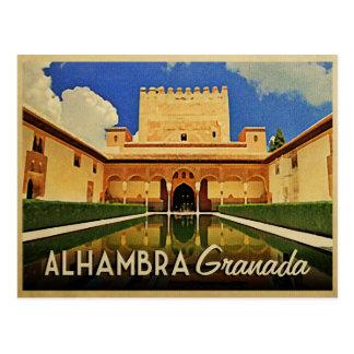 Postal Alhambra Granada España