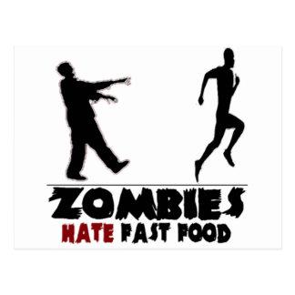Postal Alimentos de preparación rápida de los zombis