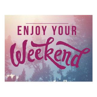 Postal Aliste para el fin de semana