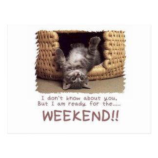 Postal aliste para el gatito del fin de semana