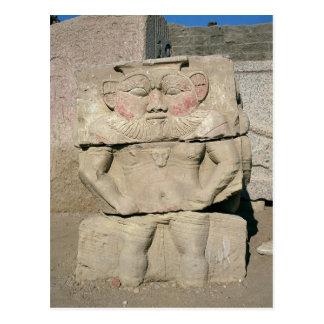 Postal Alivio de dios egipcio del hogar, Bes