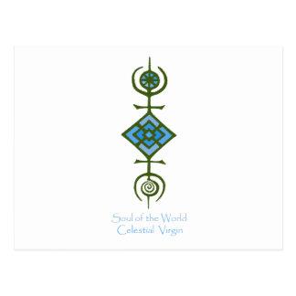 Postal Alma del mundo - Virgen celestial de VooDou