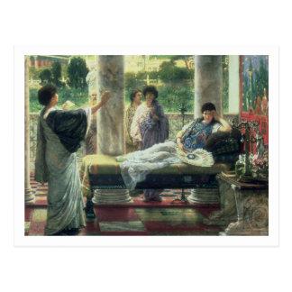 Postal Alma-Tadema el   Catullus que lee sus poemas