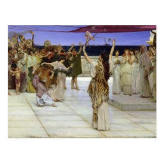 Postal Alma-Tadema el   un esmero al Bacchus