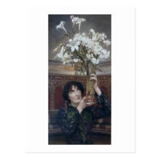 Postal Alma-Tadema el | una bandera de la tregua, 1900