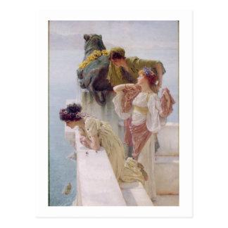 Postal Alma-Tadema el   una esquina de ventajoso, 1895