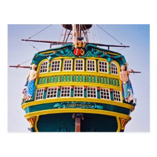 Postal alta de la nave de Amsterdam