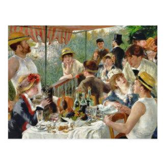 Postal Alumerzo del vintage Renoir del fiesta del