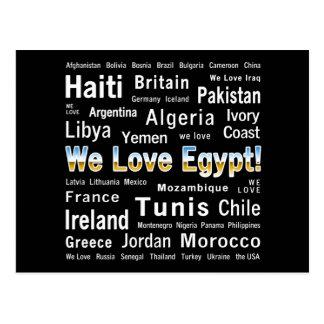 Postal Amamos Egipto, y otros