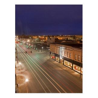 Postal Amanecer en la calle principal de Bismarck, Dakota
