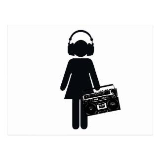 Postal Amante de la música