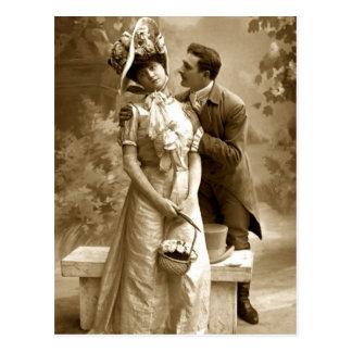 Postal Amantes de la fotografía 2 del vintage