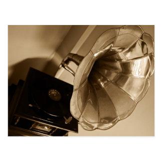 Postal Amantes de la música antiguos de los regalos del
